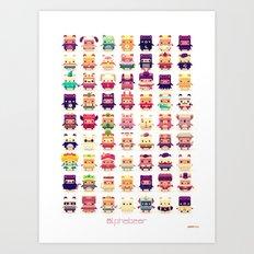 Alphabear Art Print