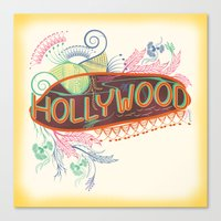 decorative Canvas Prints featuring Decorative Typographic by famenxt