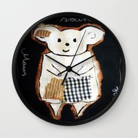 mouse Wall Clocks featuring mouse by woman