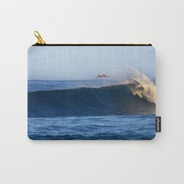 Sunrise surfing at Sunset Beach. Carry-All Pouch