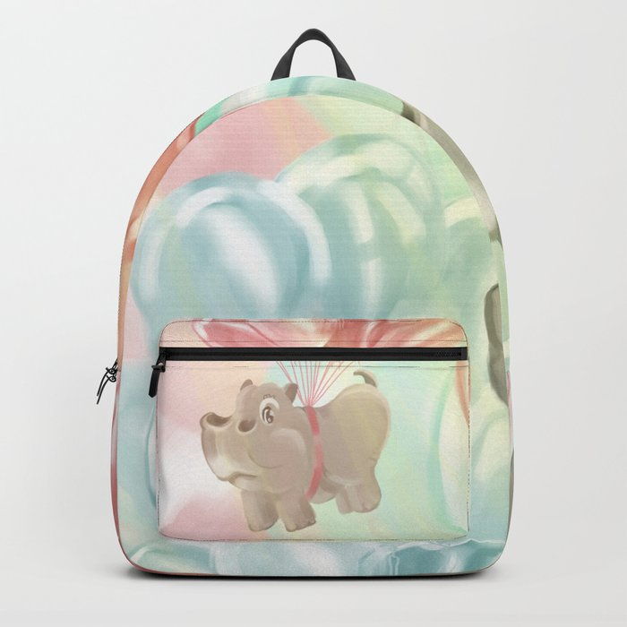 Flying hippos Backpack