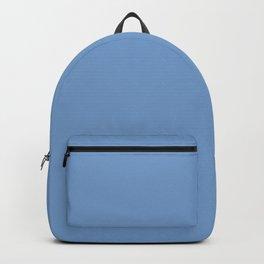 Dark Pastel Blue - solid color Backpack