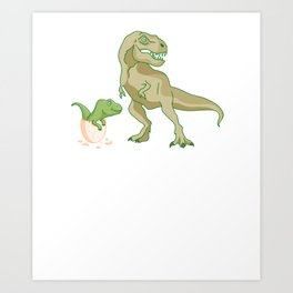 Funny Daddysaurus Rex Shirt Father's Day Gift Idea Art Print