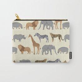 Safari animal minimal modern pattern basic home dorm decor nursery safari patterns Carry-All Pouch