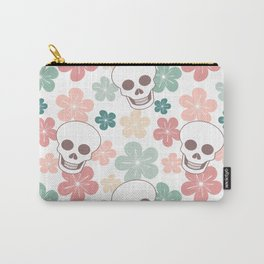 cute colorful pattern with skulls and flowers Carry-All Pouch