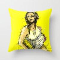 tank girl Throw Pillows featuring Tank Girl by Joe carver