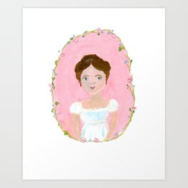 Jane Austen Character Illustration Art Print