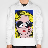 lichtenstein Hoodies featuring Pop Art Glamour Girl by Alli Vanes