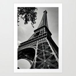 Eiffel Tower- Black and White Art Print