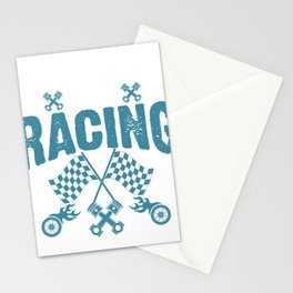An Education is Important But Racing is Importanter Racer Stationery Cards
