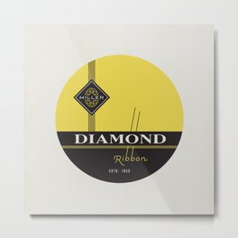 """Vintage Typewriter Tin Lids Series: """"Diamond"""" Metal Print"""