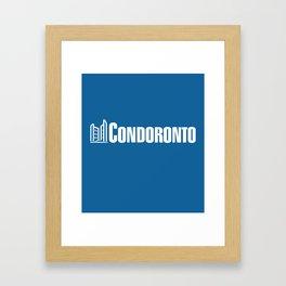 condoronto - white Framed Art Print