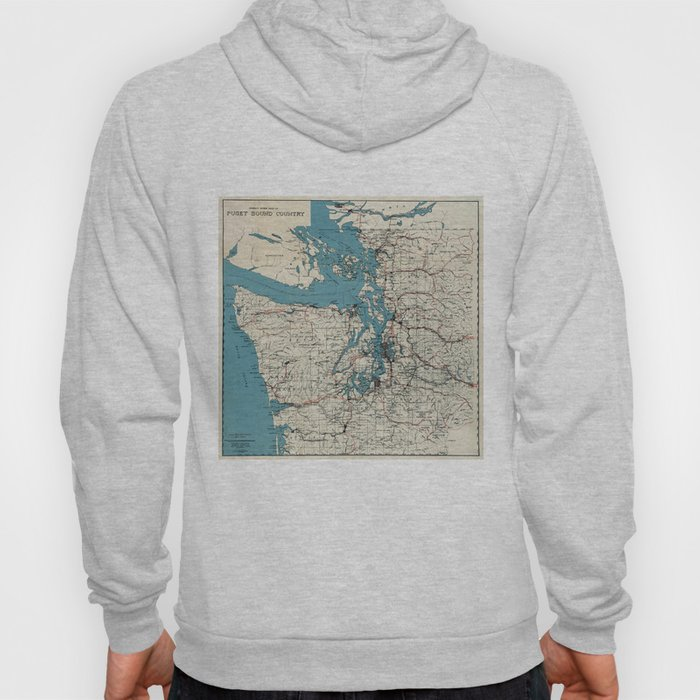 Vintage Map of The Puget Sound (1919) Hoody