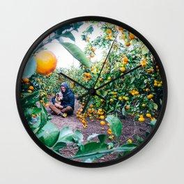 Valencian Orange Grove Wall Clock