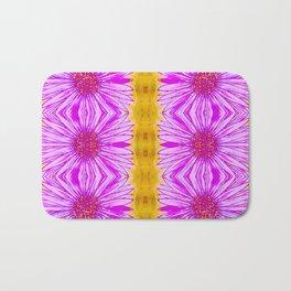Purple Aster Flowers Bath Mat