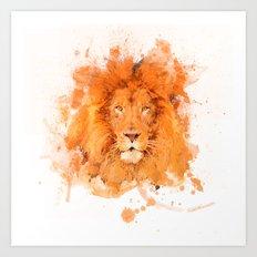 Splatter Lion Art Print