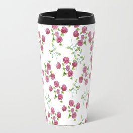 Watercolor roses on white backgroung Travel Mug