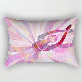 Sleeping Ballerina Floral Rectangular Pillow