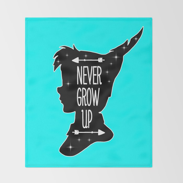 Peter Pan Quote Never Grow Up Throw Blanket By Maryedenoa Society6