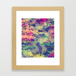 Abstract painting X 0.3 Framed Art Print