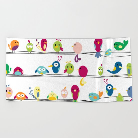 Singing Monsters Beach Towel