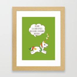 St. Patrick's Day Unicorn 3 Framed Art Print
