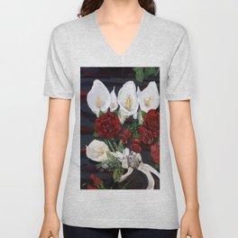 Lillies ad Roses Unisex V-Neck