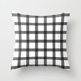 black and white plaid Throw Pillow