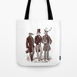 Gentlemen in the Woods Tote Bag