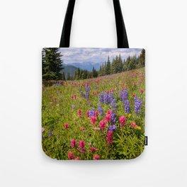 SHRINE RIDGE COLORADO SUMMER MOUNTAIN WILDFLOWERS LANDSCAPE PHOTOGRAPHY Tote Bag