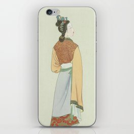 Wang Xifeng, Chinese Painting and Calligraphy Print, Twelve Beauties of Jinling of Famous Literary iPhone Skin
