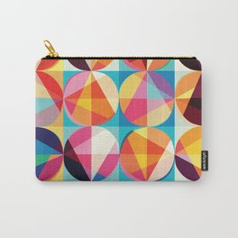 Beautiful colors Geometry, geometric abstract triangles circles squares Carry-All Pouch