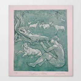 Daphnis and Chloe Canvas Print