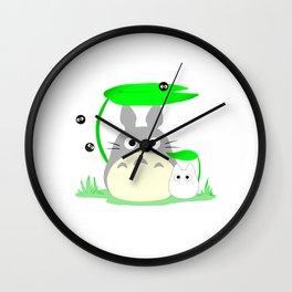 kawaii chinchilla totorooo Wall Clock