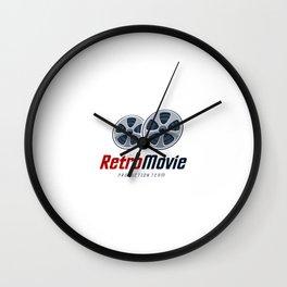 Logotipo Pelicula Retro Wall Clock