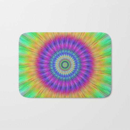 Colorful explosion Bath Mat