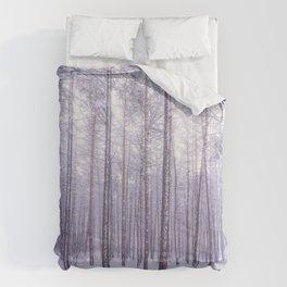 Snow in Trees Comforters