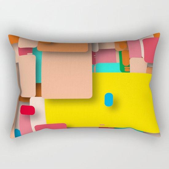 rounded rectangles Rectangular Pillow