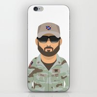 chris evans iPhone & iPod Skins featuring Chris by Capitoni