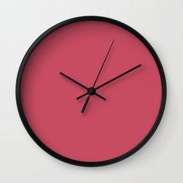Chestnut Rose Wall Clock