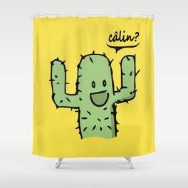 Free Hugs Calin gratuit Shower Curtain