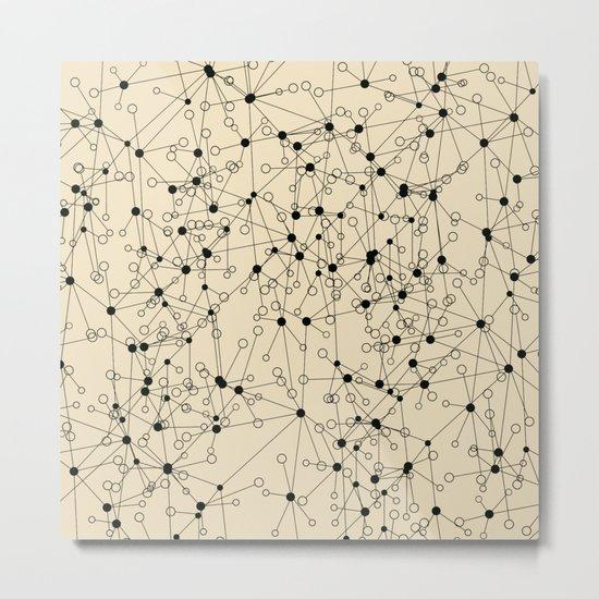 Stars sky map Metal Print