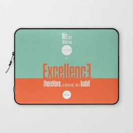 Lab No. 4- Aristotle Quote motivational typography Quote Poster Laptop Sleeve