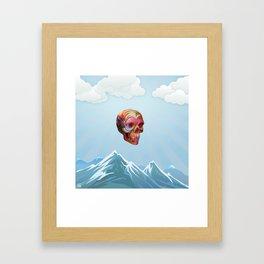 Skull Passes By Framed Art Print