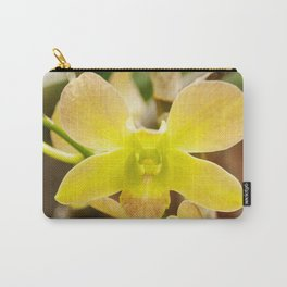 Yellow Rose Orchid Photography Print Carry-All Pouch