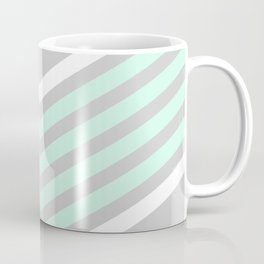 Mint & White Arrows Over Grey Coffee Mug