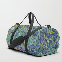 Irises by Vincent van Gogh Duffle Bag