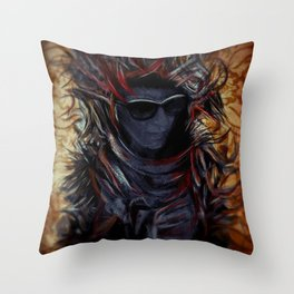 Franja e Chamas Throw Pillow
