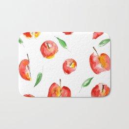 Watercolor Apples Bath Mat
