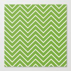 Lime Chevron Canvas Print